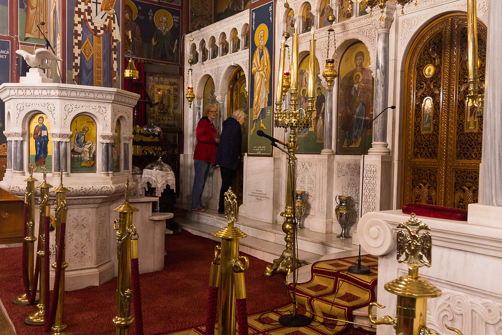 Ekklisia Evaggelismos, Greek Orthodox Church.  Poros Island, Greece
