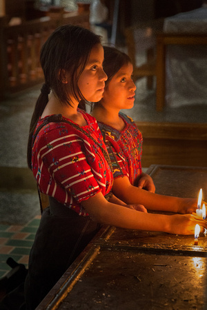 Two young girls in Church