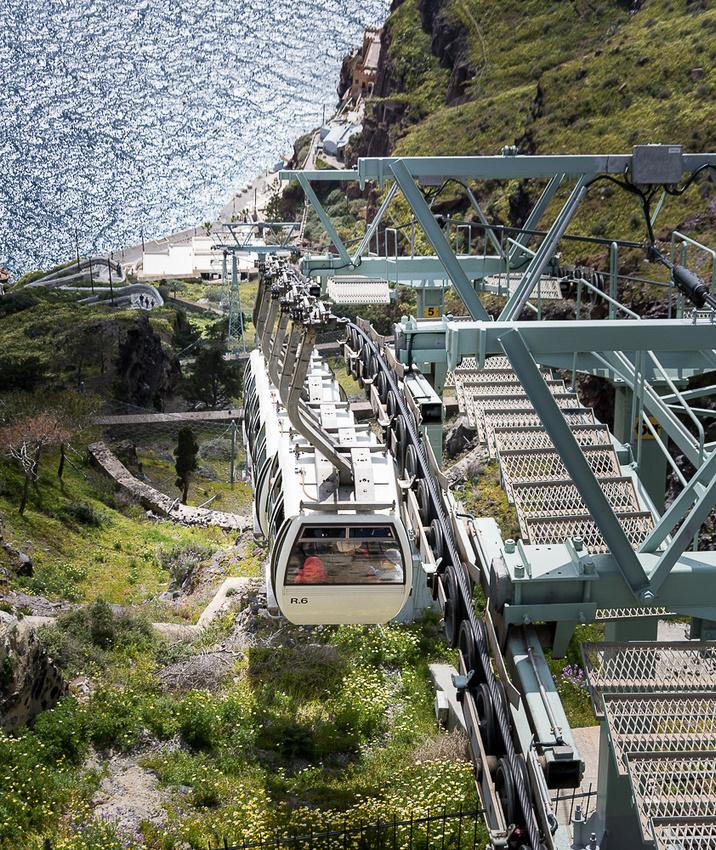 Fira cable car, Santorini island