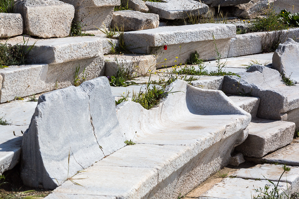 Delos Archeology Site #13 (theater seats), Greece