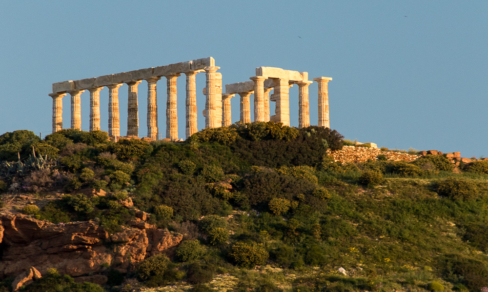 Morning at the Temple of Poseidon