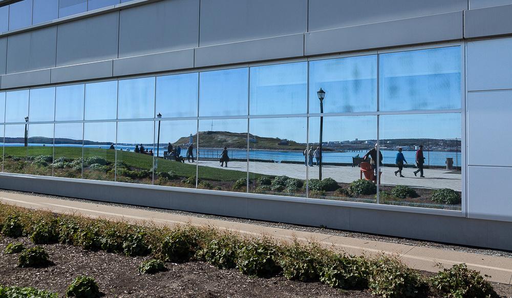 Halifax Harbourwalk reflection