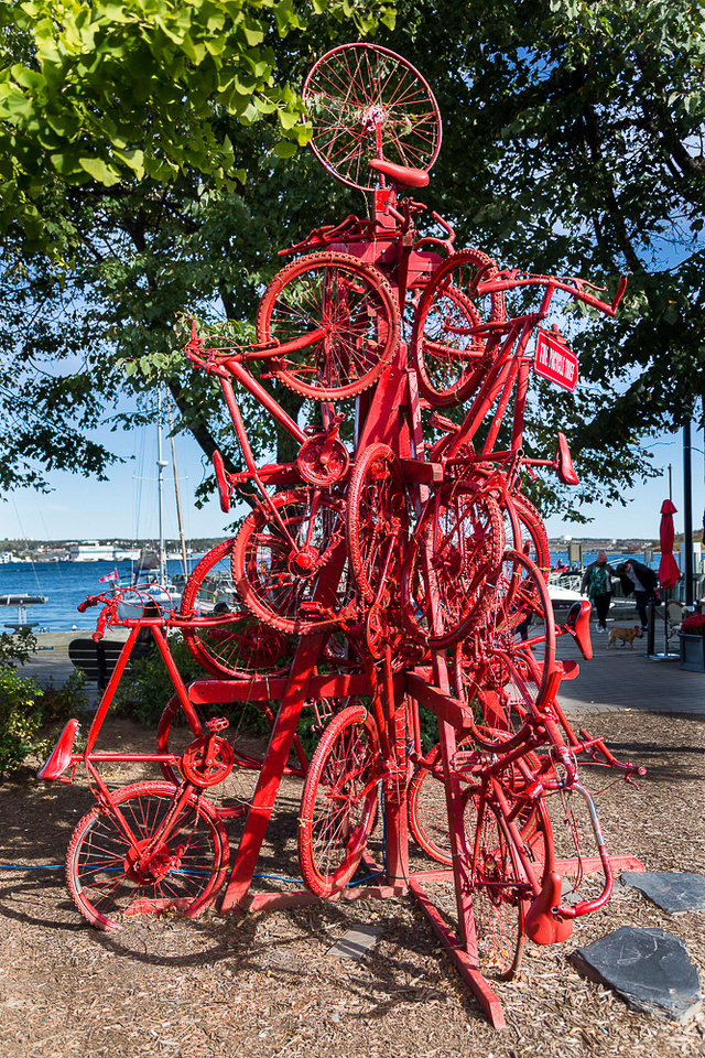 Red Bike Pile (Halifax Harbourwalk)