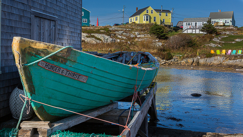 Green Dory at Peggys Cove (NS Canada)
