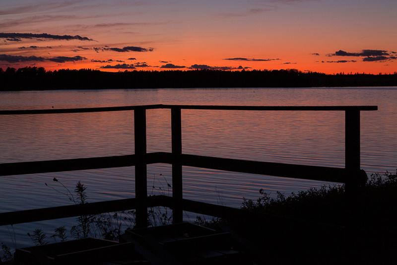 Backyard Sunset.  Stanley Bridge, PEI