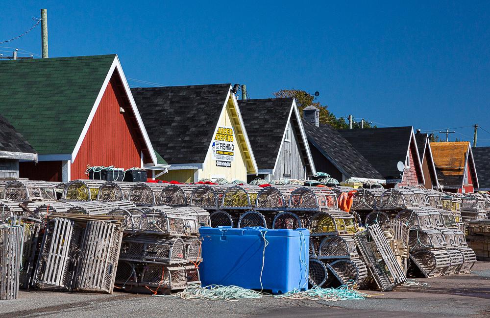 Waitng for lobster season, North Rustico Harbour (PEI, Canada)
