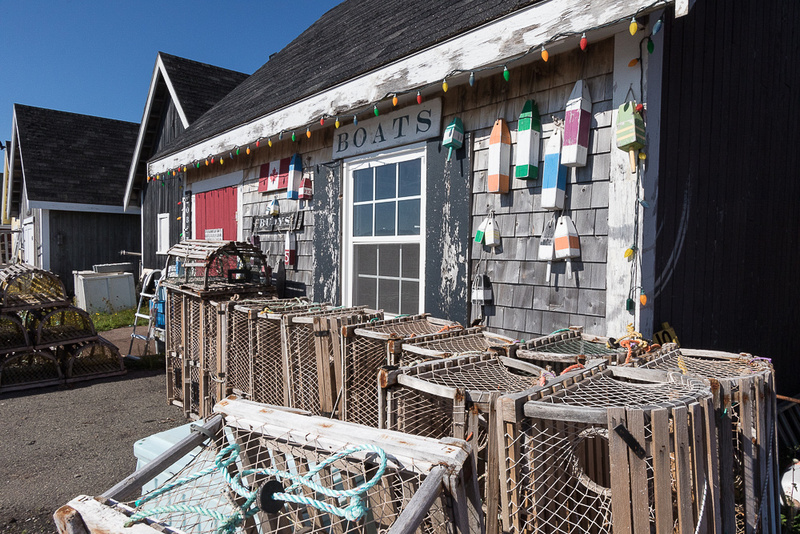Lobster traps, Boats, and Buoys (North Rustico PEI, Canada)