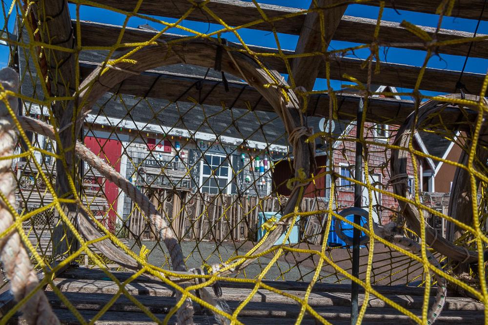 Through the lobster trap (North Rustico  PEI, Canada)