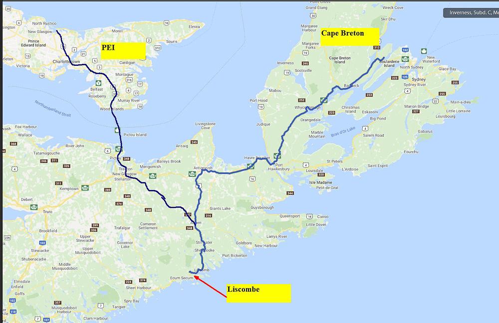 02 Map 06 - PEI to Cape Breton