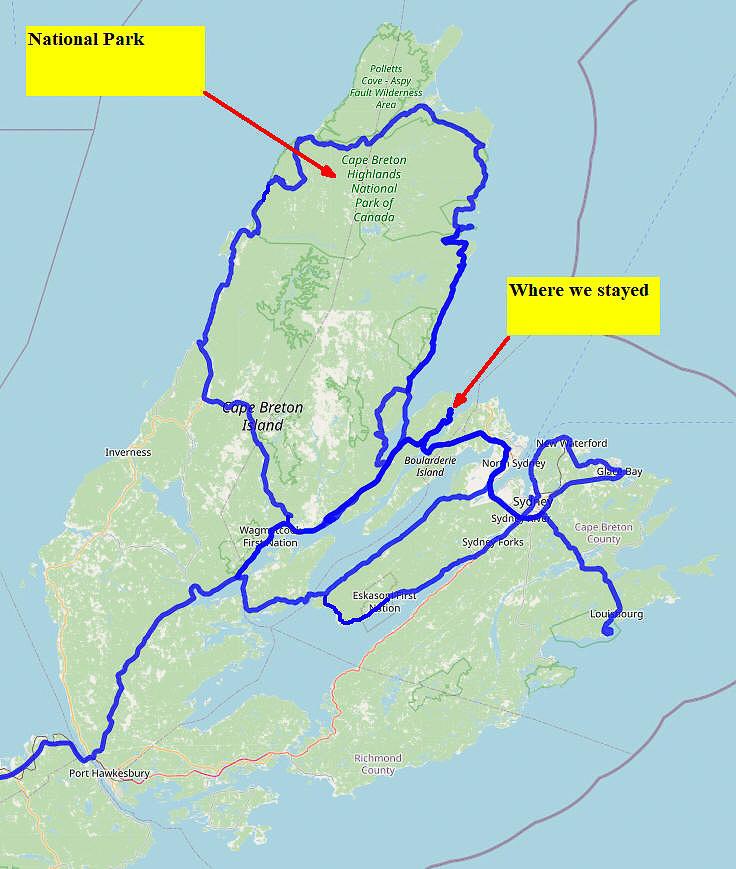 02 Map 07 - Cape Breton Route Map
