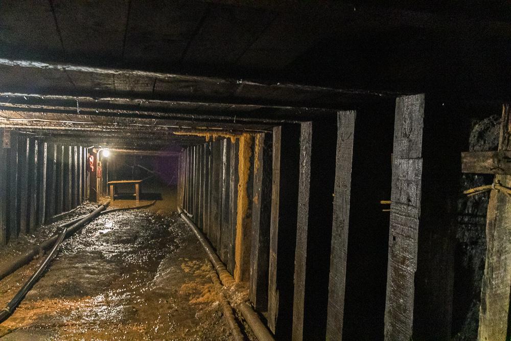 Mine Tunnel Glace Bay Miner's Museum(Cape Breton Island, NS Canada)