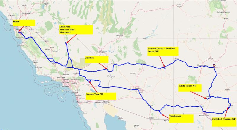 01 Map 1 - Whole Trip