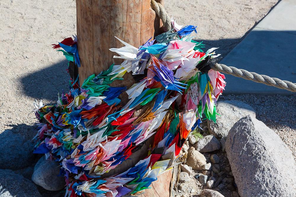 Paper Cranes for good luck.  Manzanar, CA