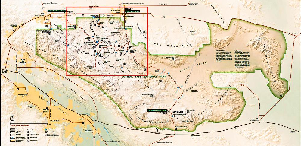 01 Map 6 - Joshua Tree Park Map