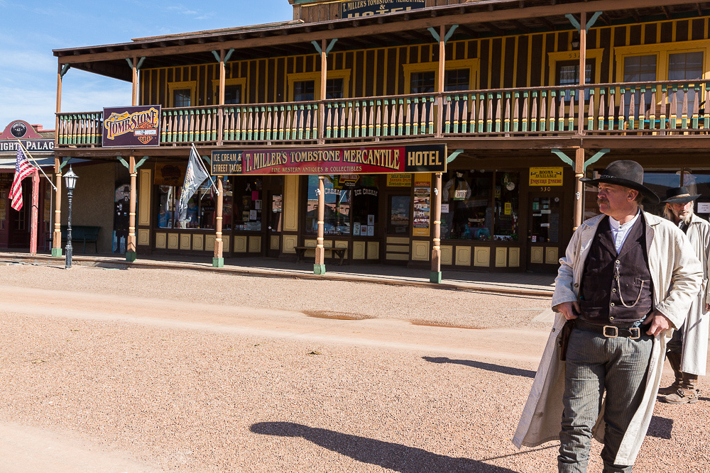Drumming up business in tombstone