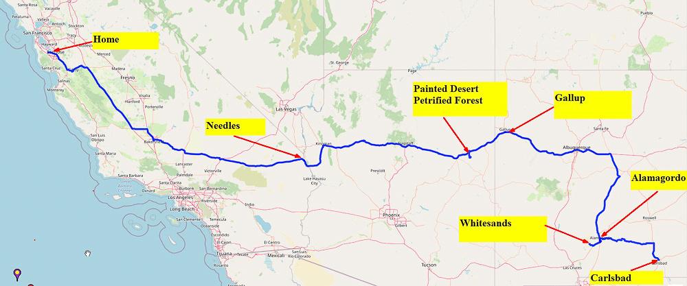 06 Map 9 Carlsbad to Palo Alto