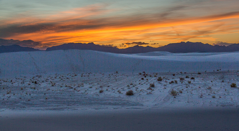 sunset over White Sands #4