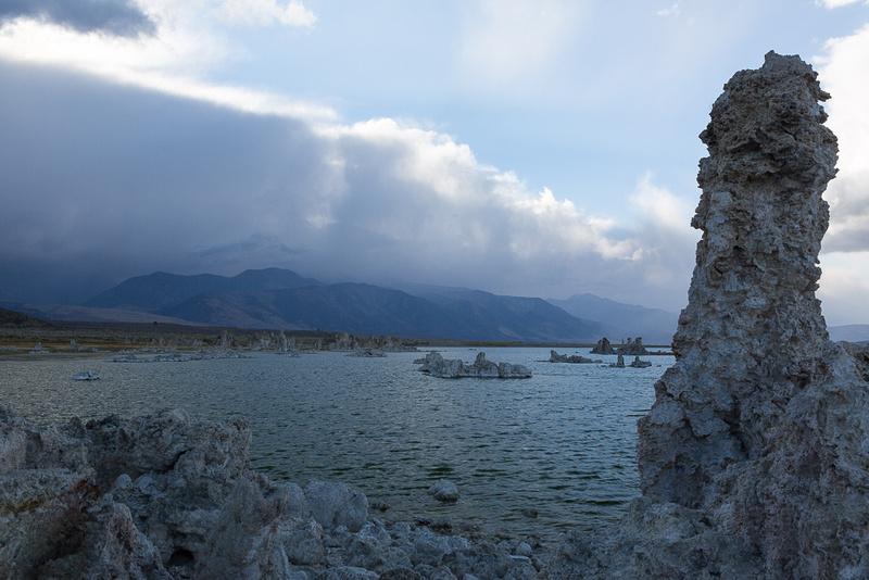 Storem descending on Mono Lake