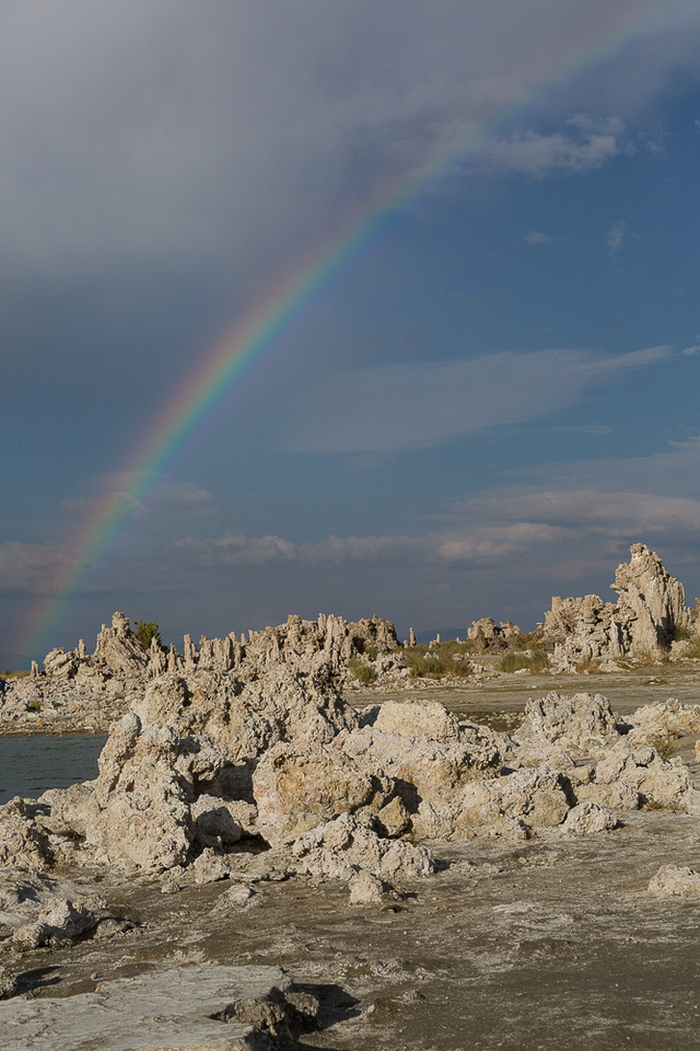 Mono Lake Tufa with Rainbow