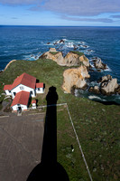 Pt. Arena lightkeepers house and shadow of lighthouse