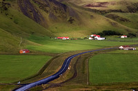 Iceland fields and farms