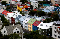 Colorful houses, Reykjavik Streets #1