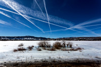 Over 13 Contrails over the Escalante