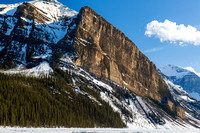Lake Louise titlted cliff