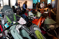 Stroller Parking at the aquarium