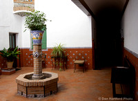 Typical Spaish house atrium/courtyard in Toledo Spain