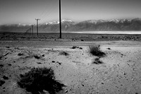Lines through Owens Valley