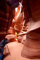 Shooting Upper Antelope Slto Canyon