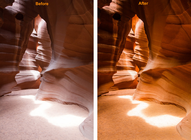 Floor Light Pattern, Upper Antelope Slot Canyon