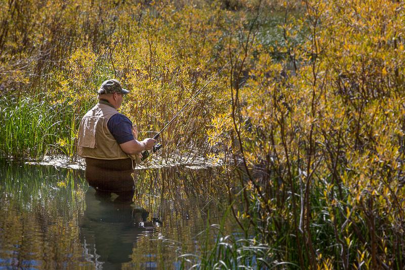 Fisherman on South Fork of Bishop Creek