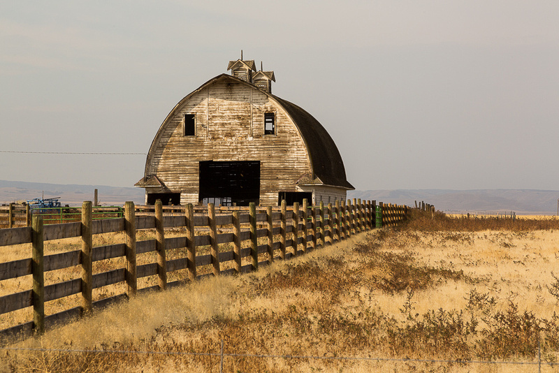 Two Eye Barn with Fence