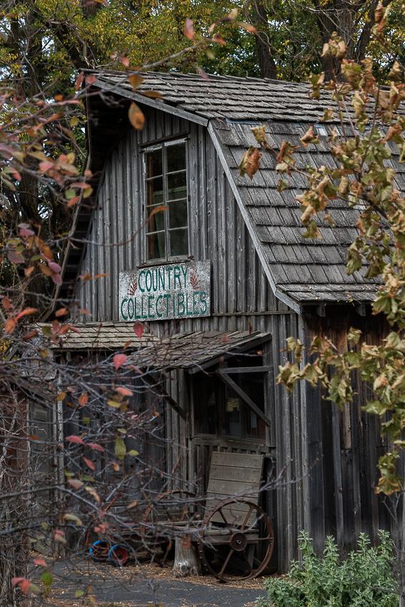 Antique shop in barn