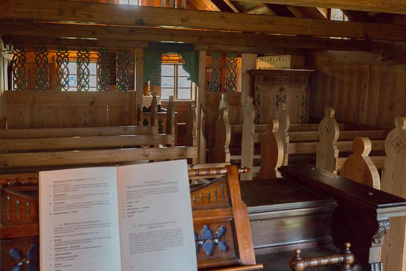 Historic Iceland Church Interior