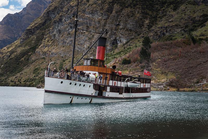Steamship Earnslaw on lake Wakatipu NZ