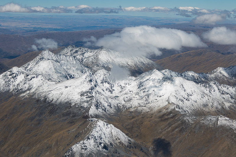 Southern Alps, Cardrona Area from the air