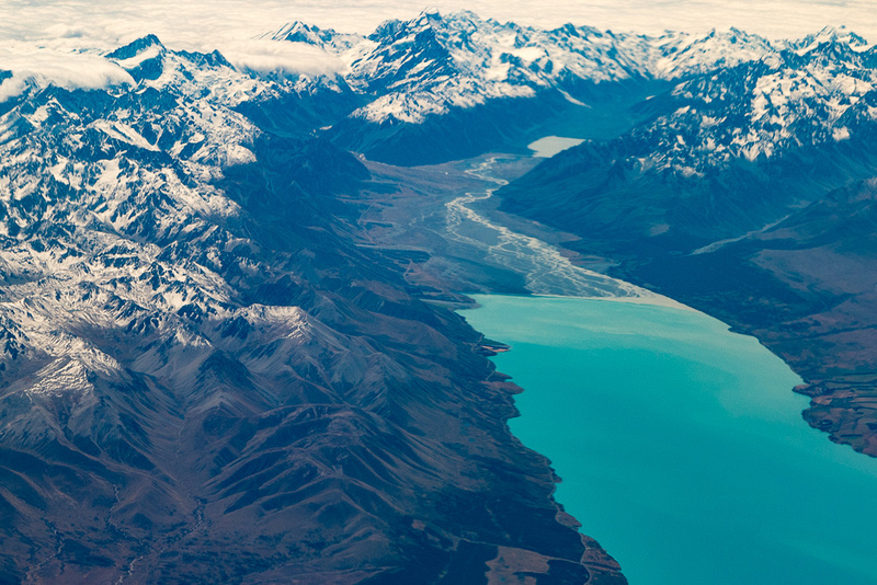 Lake Pukaki in Southern Alps, NZ