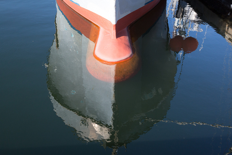 The snout of the the boat