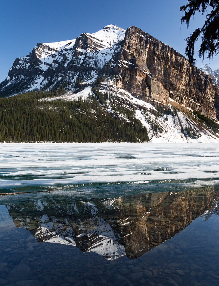 Fairview Mountain reflection in Lake Louise #1
