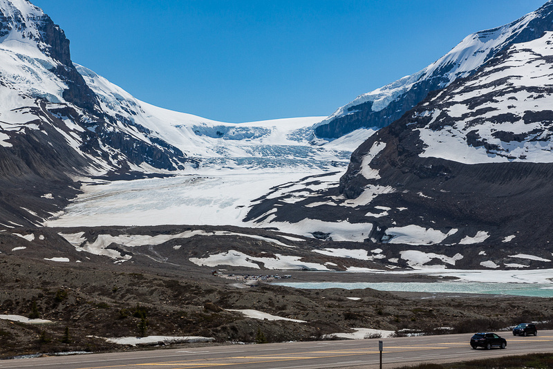 Athabasca Glacier from visitor Center