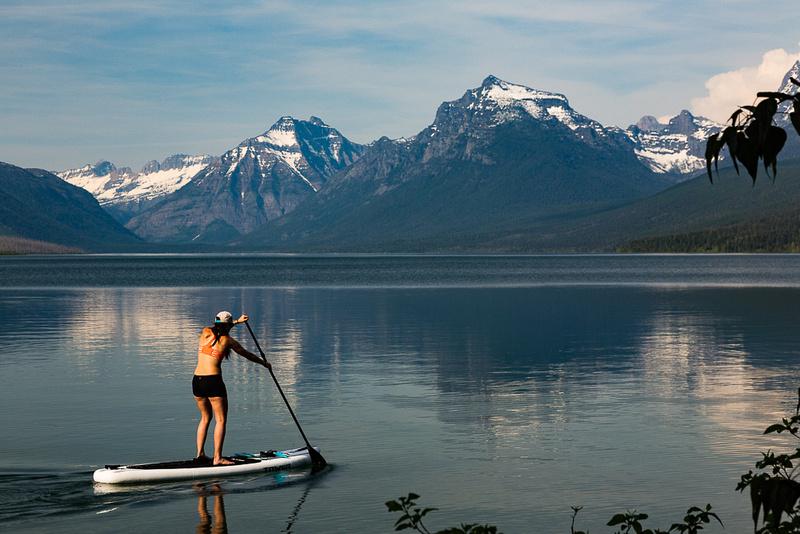 Stand up on Lake McDonald