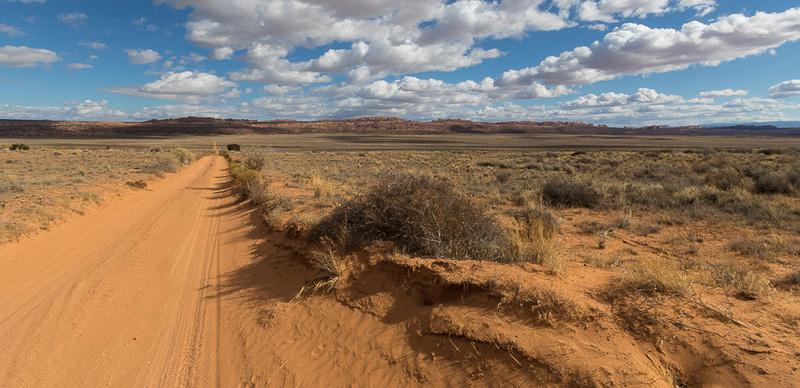 Salt Valley desert road