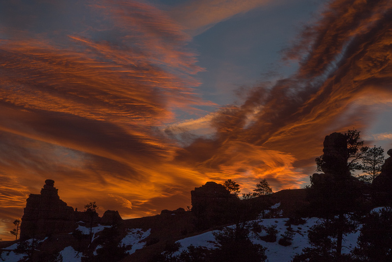 Flaming Sunset over Red Canyon SP, Utah #2