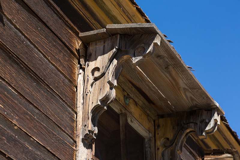 Detail over door, Bodie, CA