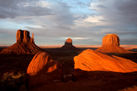 West, East and Merrick Buttes, Monument Valley