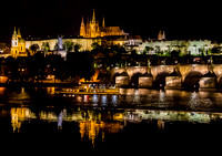 St. Vitus's Cathederal and Prague Castle night