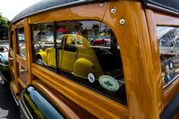 1946 Ford Delux reflecting 1656 Citreon